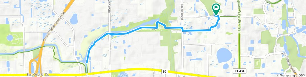 Snail-like route in Orlando