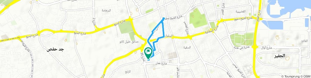 Relaxed route in Manama