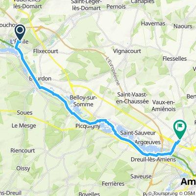 Itinéraire modéré en Amiens