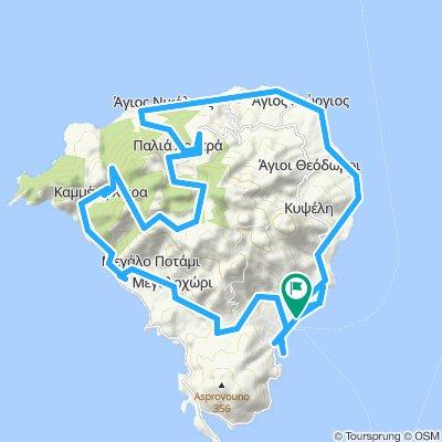 Tour de la presqu'île de Méthana