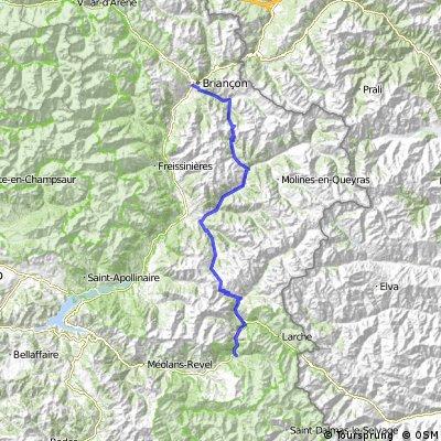 Route des Grandes Alpes, Etappe 5: Briancon - Jausiers