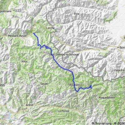 Route des Grandes Alpes, Etappe 6: Jausiers - St. Martin