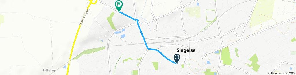 Snail-like route in Slagelse