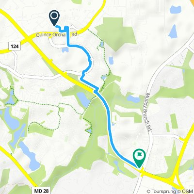 Relaxed route in Gaithersburg