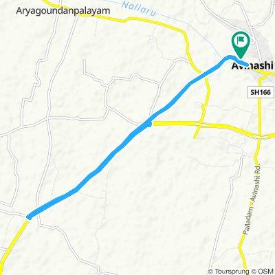Avinashi to theakkalur to Avinashi