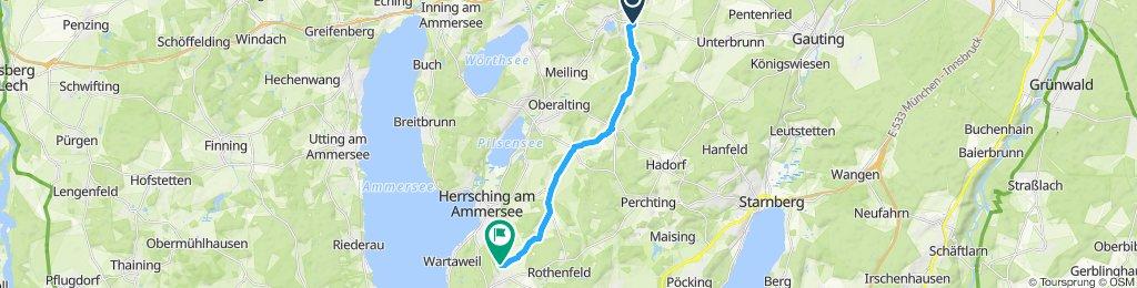 Route im Schneckentempo in Andechs