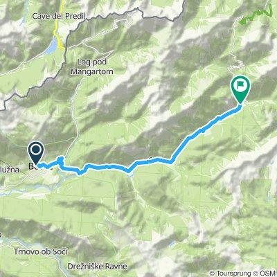 2a. Etappe Bovec - Trenta per Bus