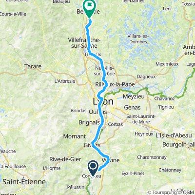 Etape 14 - Condrieu à Montmerle sur Saône - 89,8km 120D+