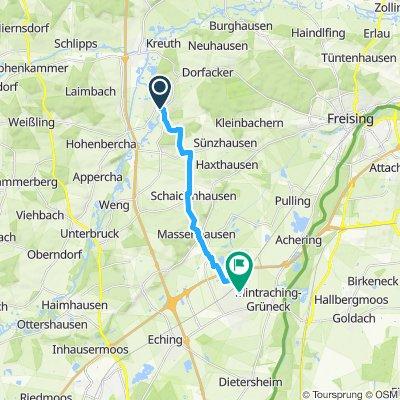 Route im Schneckentempo in Neufahrn bei Freising