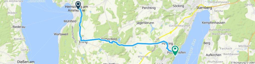 Route im Schneckentempo in Pöcking