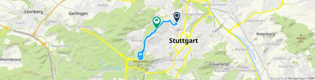 Gerade Fahrt in Stuttgart