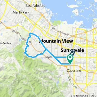 Round trip from Sunnyvale/Palo Alto Hill