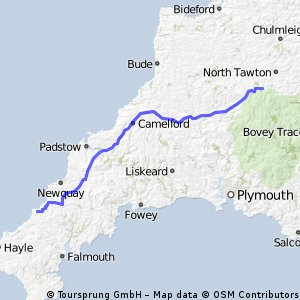 JOGLE Day 12 Wed 9th June Oakhampton to St Agnes