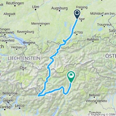 Bike tour through the italian Alps