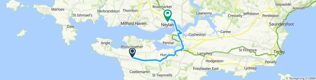 Moderate route in Milford Haven