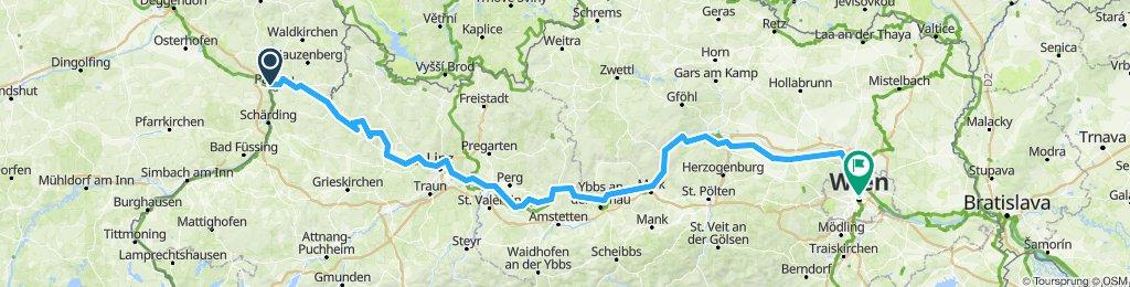 Passau nach Stephansplatz in Wien