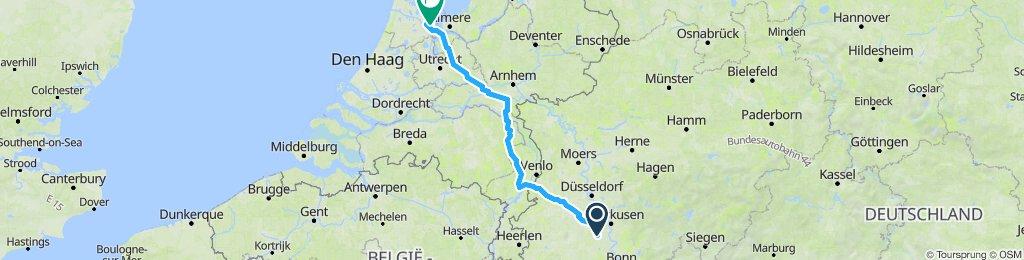 Köln-Venlo-Nijmegen-Amsterdam