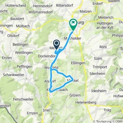 Fahrt von Messerich nach Bitburg