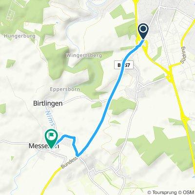 Bitburg nach Messerich bis zur Ausbremsung