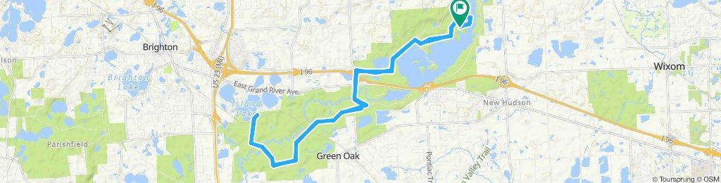 Kensington Metropark to Island Lake and back