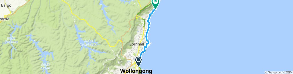 Wollongong to Austinmere