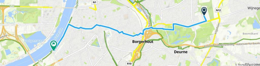 Steady ride in Antwerp