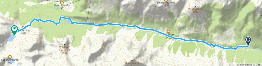 Seefeld: Salzbach bis Seebensee