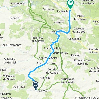 road Peñaranda-Salas de los Infantes