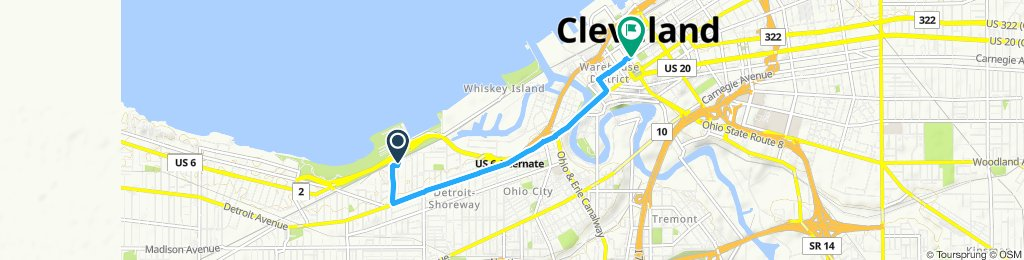Steady ride in Cleveland
