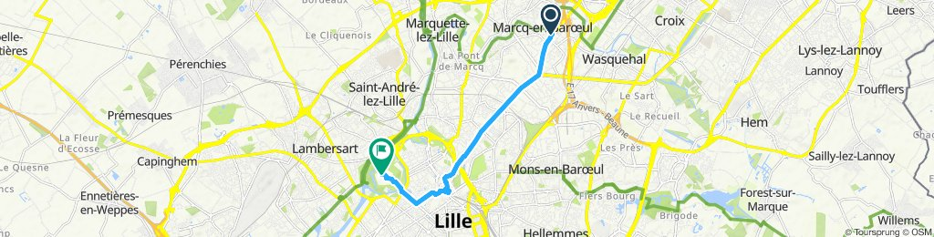 Slow ride in Lille
