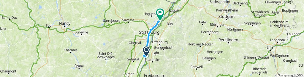 Langsame Fahrt in Drusenheim