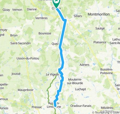 La Vienne à Vélo (de Civaux à Availles-Limouzine)