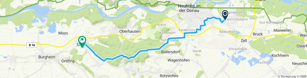 Route im Schneckentempo in Burgheim