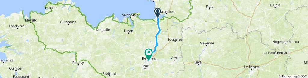 Mt St Michel - Rennes (geovelo)