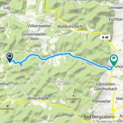 Moderate Route in Klingenmünster