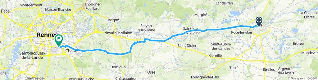 Vitré - Rennes (Google)