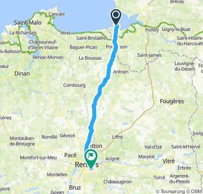 Mt St Michel - Rennes (straight path)