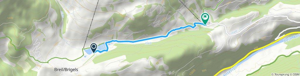 Route im Schneckentempo in Waltensburg/Vuorz
