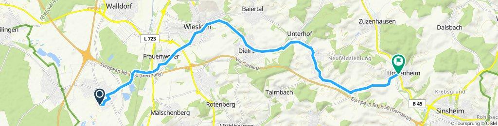 Route im Schneckentempo in Sinsheim