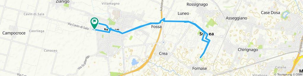 Giro a velocità lenta in Mirano