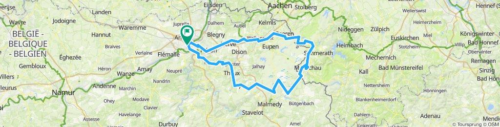 Liège - Monschau - Botrange - Spa - Liège