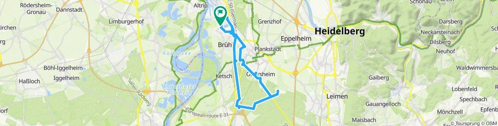 Moderate Route in Mannheim Golfplätze