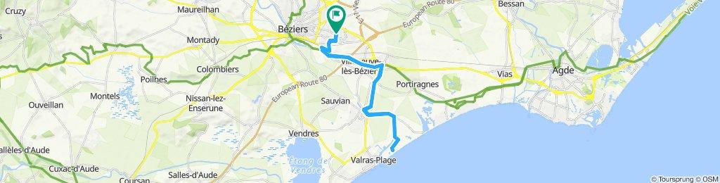 Du Château  St Jean D'Aureillan, Béziers aux Orpellières en passant par le canal du midi ou vice versa