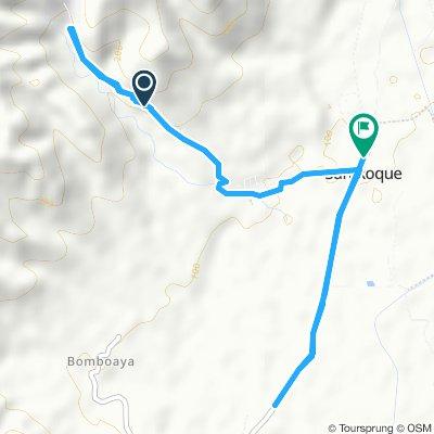 Snail-like route in San Manuel