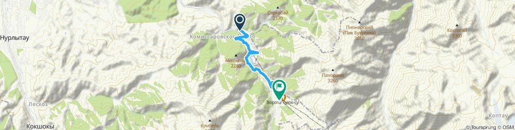 Easy ride in Chimbulak