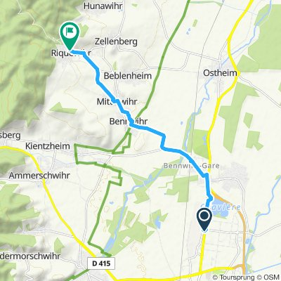 Caminhada lenta Riquewihr