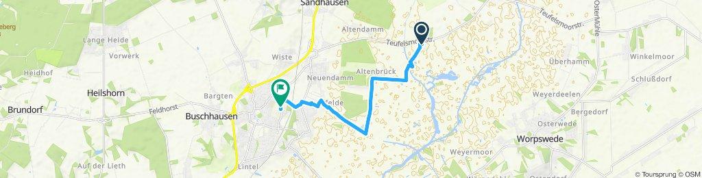 Einfache Fahrt in Osterholz-Scharmbeck