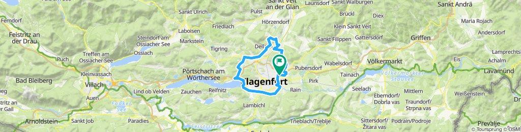 Klagenfurt umrundet