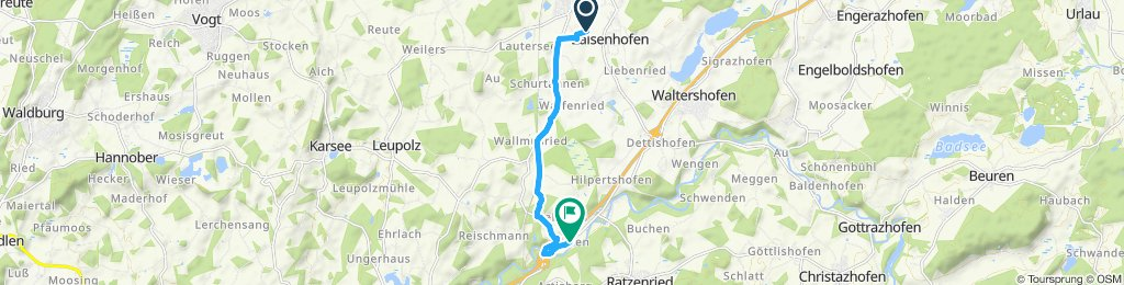 Moderate Route in Kißlegg