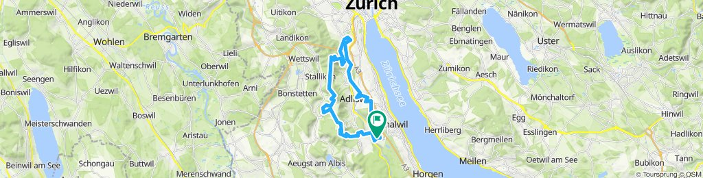 Gattikon - Langnau - Buchenegg - Uetliberg - Leinbach - Gattikon